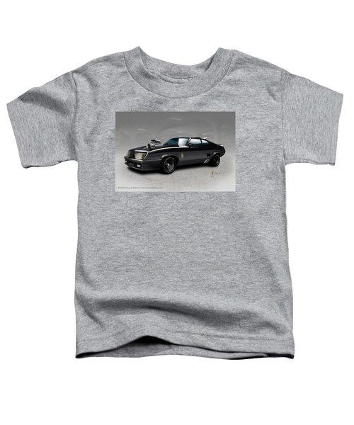 Toddler T-Shirt featuring the digital art Black On Black by Doug Schramm