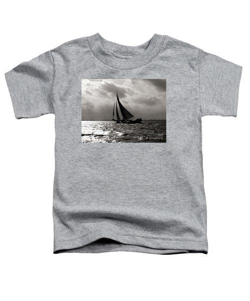 Black Sail Sunset Toddler T-Shirt