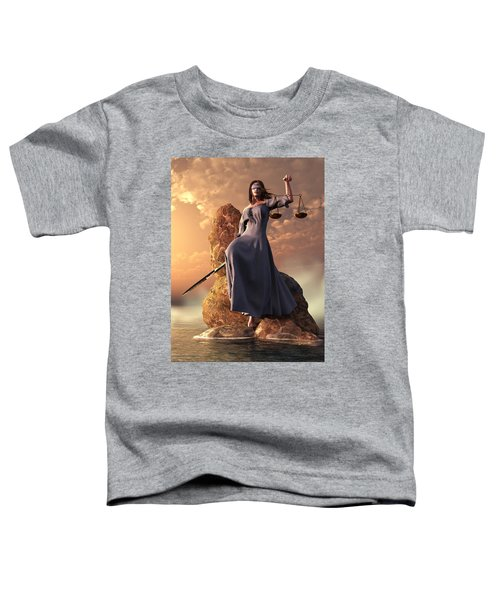 Blind Justice With Scales And Sword Toddler T-Shirt