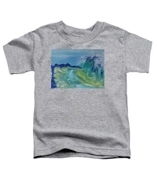 Blue River Landscape I, 1988 Oil On Canvas Toddler T-Shirt