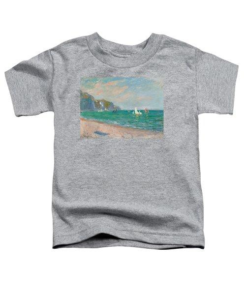 Boats Below The Pourville Cliffs Toddler T-Shirt