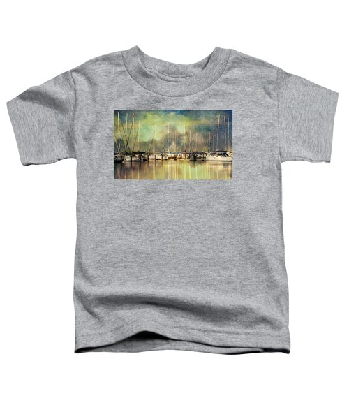 Boats In Harbour Toddler T-Shirt