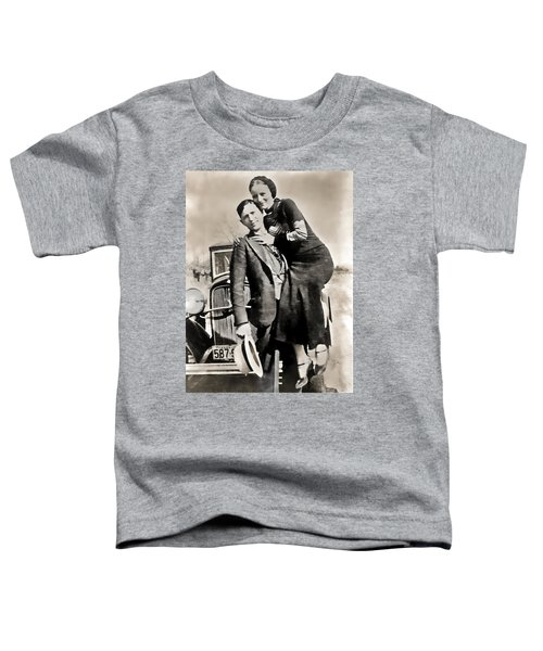 Bonnie And Clyde - Texas Toddler T-Shirt