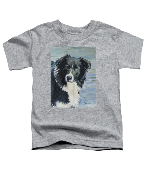 Border Collie Portrait Toddler T-Shirt