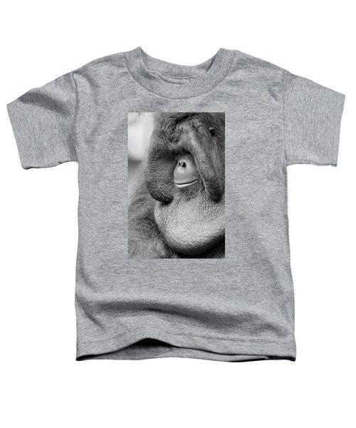 Bornean Orangutan V Toddler T-Shirt by Lourry Legarde