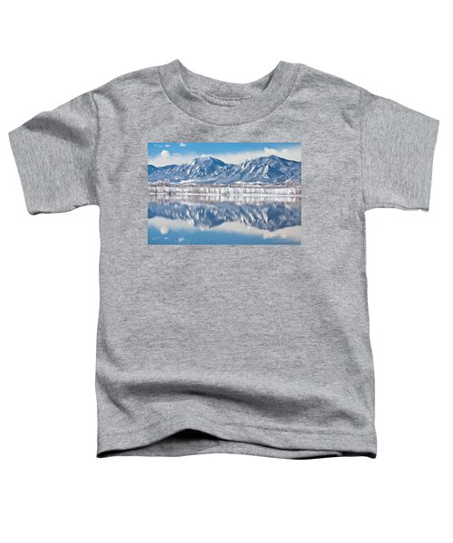 Boulder Reservoir Flatirons Reflections Boulder Colorado Toddler T-Shirt