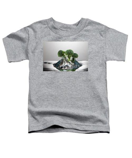 Broccoli Freshsplash Toddler T-Shirt by Steve Gadomski