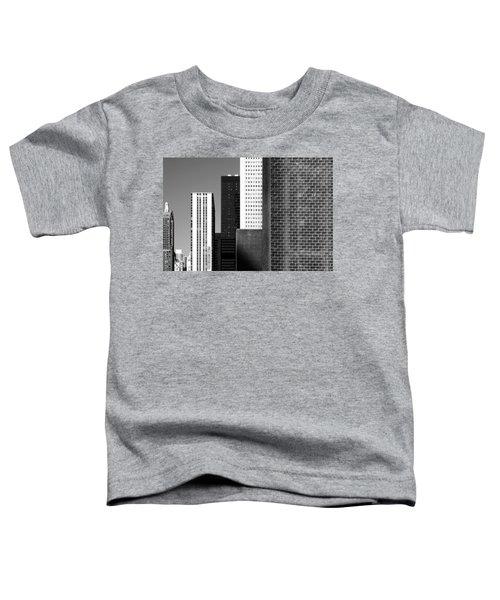Building Blocks Black White Toddler T-Shirt