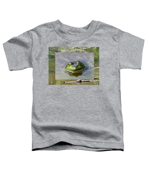 Bull Frog And Pond Toddler T-Shirt