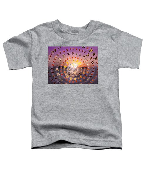 Butterfly Sunset Toddler T-Shirt