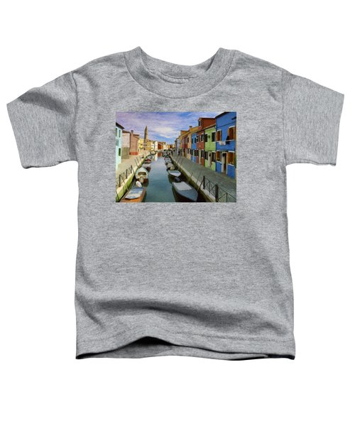 Canal Burano  Venice Italy  Toddler T-Shirt