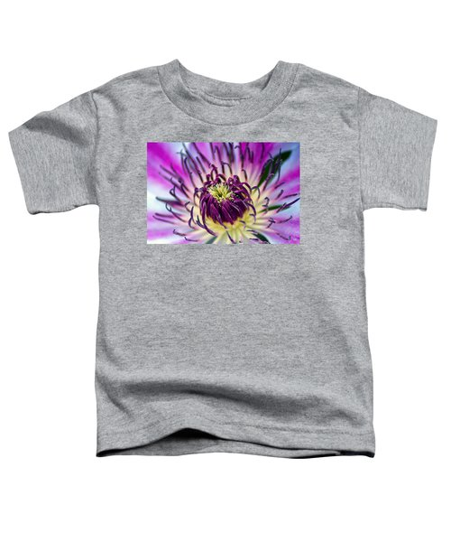 Candy Stripe Clematis Toddler T-Shirt