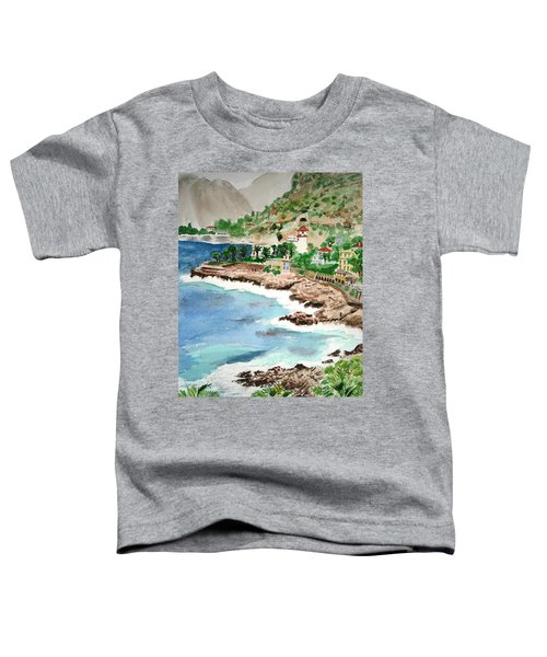 Cap D'ail On A Rainy Day Toddler T-Shirt