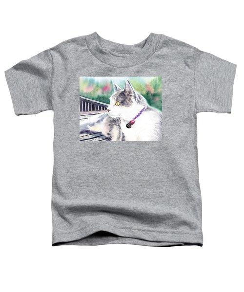 Cat Toddler T-Shirt by Irina Sztukowski