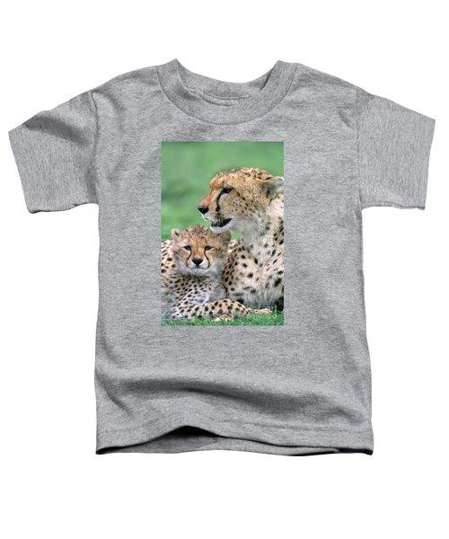 Cheetah Mother And Cub Toddler T-Shirt
