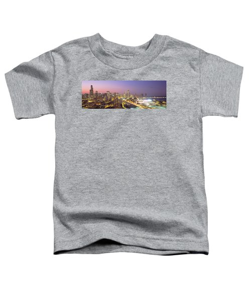 Chicago, Illinois, Usa Toddler T-Shirt by Panoramic Images