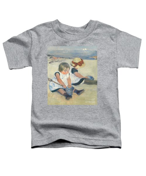 Children Playing On The Beach Toddler T-Shirt