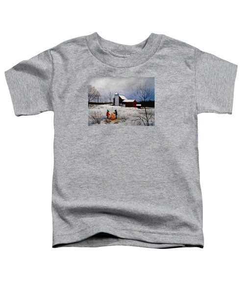 Children Warming Up By The Fire Toddler T-Shirt