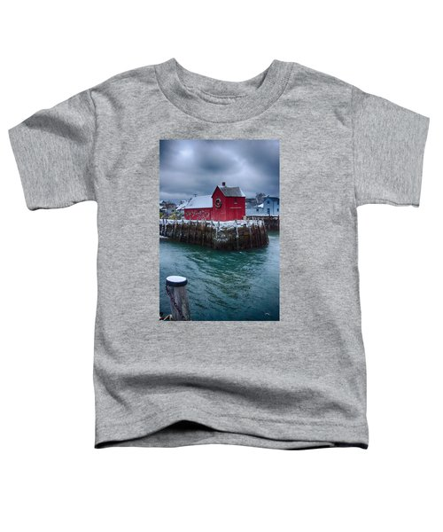 Christmas In Rockport Massachusetts Toddler T-Shirt