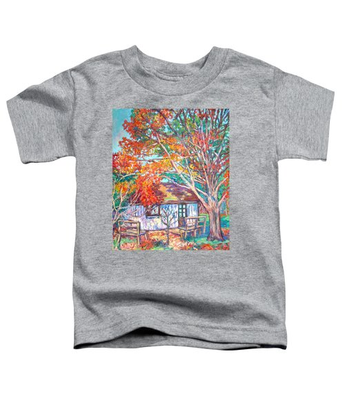 Claytor Lake Cabin In Fall Toddler T-Shirt