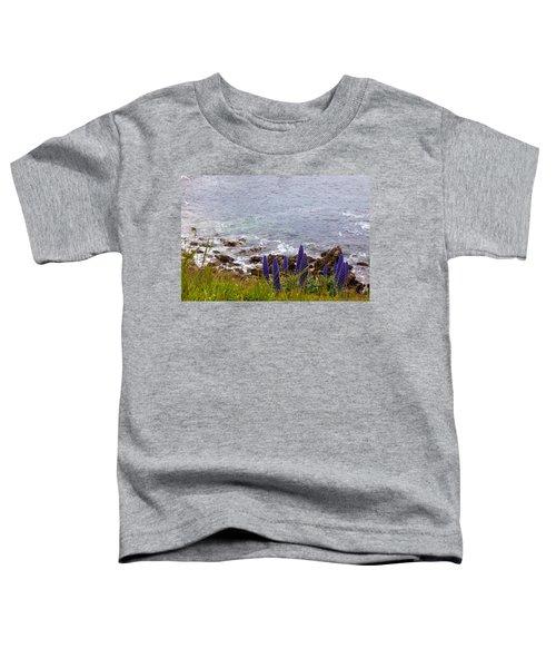 Coastal Cliff Flowers Toddler T-Shirt