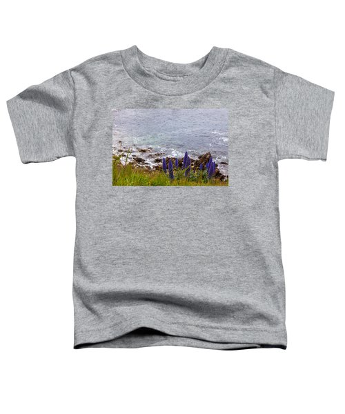 Coastal Cliff Flowers Toddler T-Shirt