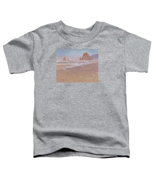 Coastal Escape  Cannon Beach Oregon And Haystack Rock  Toddler T-Shirt