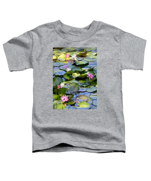 Colorful Water Lily Pond Toddler T-Shirt