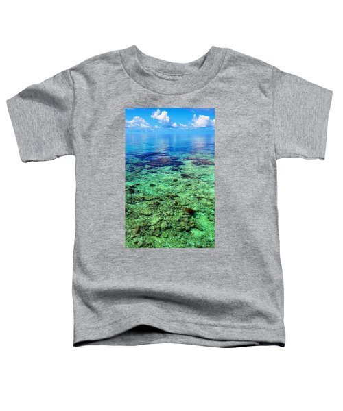 Coral Reef Near The Island At Peaceful Day. Maldives Toddler T-Shirt