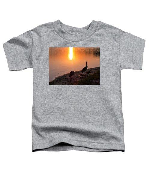 Cranes At Sunset Toddler T-Shirt