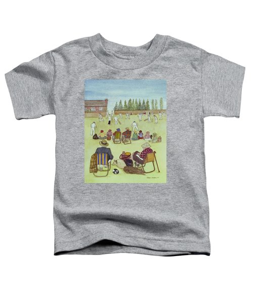 Cricket On The Green, 1987 Watercolour On Paper Toddler T-Shirt by Gillian Lawson