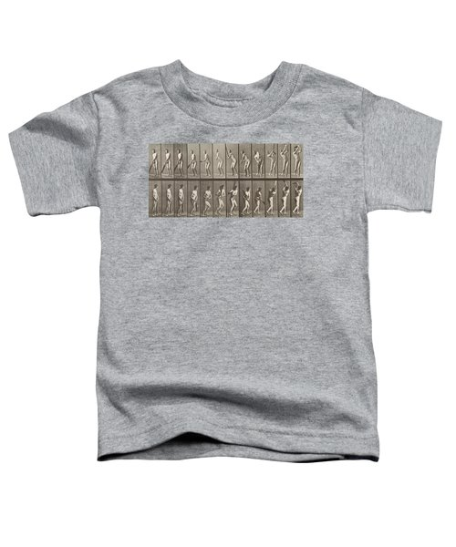 Cricketer Toddler T-Shirt by Eadweard Muybridge
