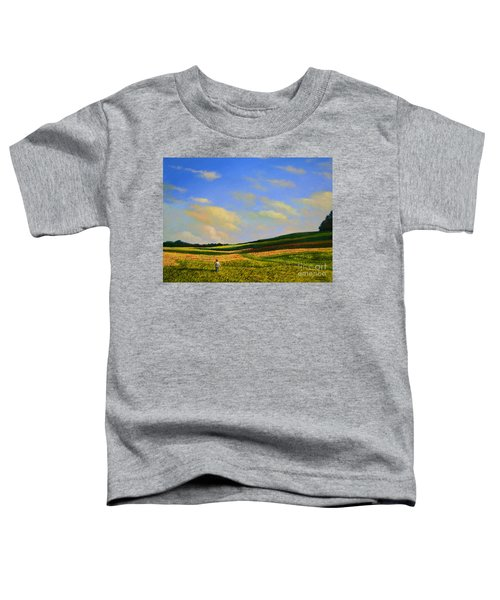 Crossing The Field Toddler T-Shirt