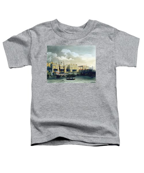 Custom House From The River Thames Toddler T-Shirt by T. & Pugin, A.C. Rowlandson