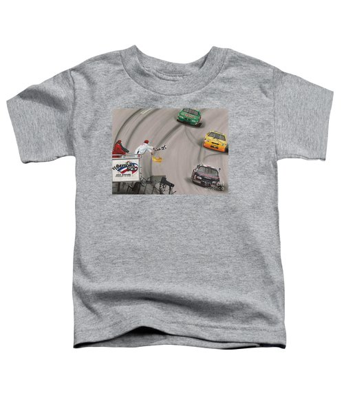 Dale Earnhardt Wins Daytona 500-checkered Flag Toddler T-Shirt