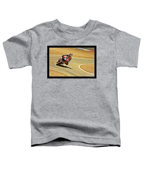 Dani Pedrosa Running Out Of Road Toddler T-Shirt