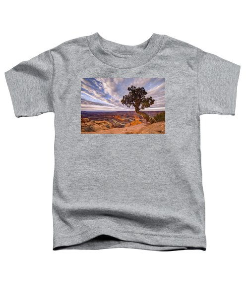 Toddler T-Shirt featuring the photograph Dead Horse Point Sunrise by Dustin  LeFevre