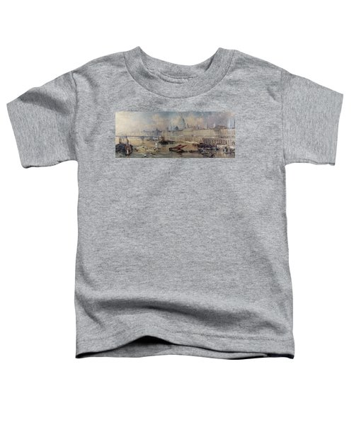 Design For The Thames Embankment Toddler T-Shirt by Thomas Allom