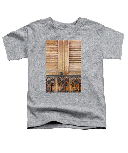 Detail Of Wooden Door And Wrought Iron In Old San Juan Puerto Ric Toddler T-Shirt