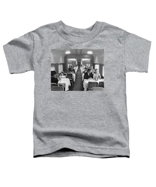 Diners In Railroad Dining Car Toddler T-Shirt