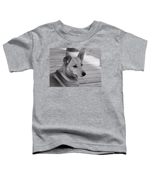 Dog In Black And White One Toddler T-Shirt