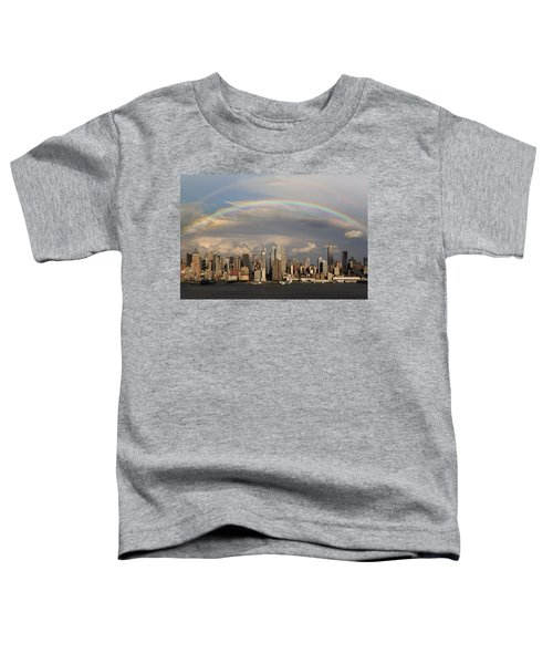 Double Rainbow Over Nyc Toddler T-Shirt