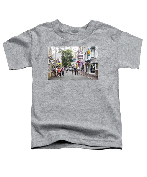 Downtown Scene In Provincetown On Cape Cod In Massachusetts Toddler T-Shirt