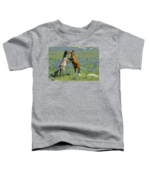 Dueling Mustangs Toddler T-Shirt