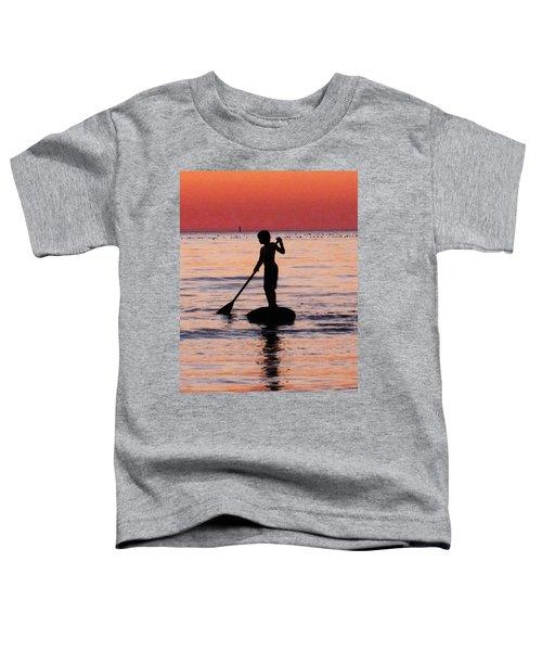 Dusk Float - Sunset Art Toddler T-Shirt