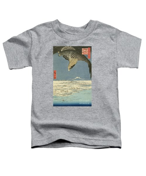 Eagle Over One Hundred Thousand Acre Plain At Susaki Toddler T-Shirt