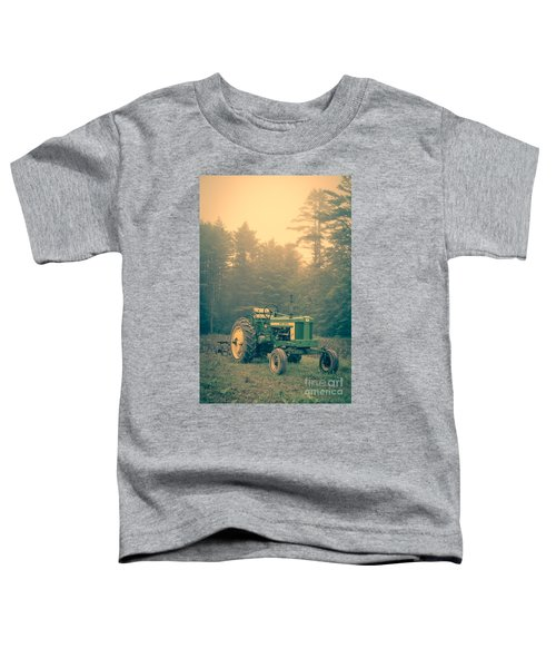 Early Morning Tractor In Farm Field Toddler T-Shirt