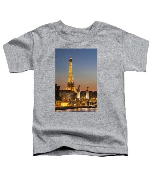 Eiffel At Twilight Toddler T-Shirt