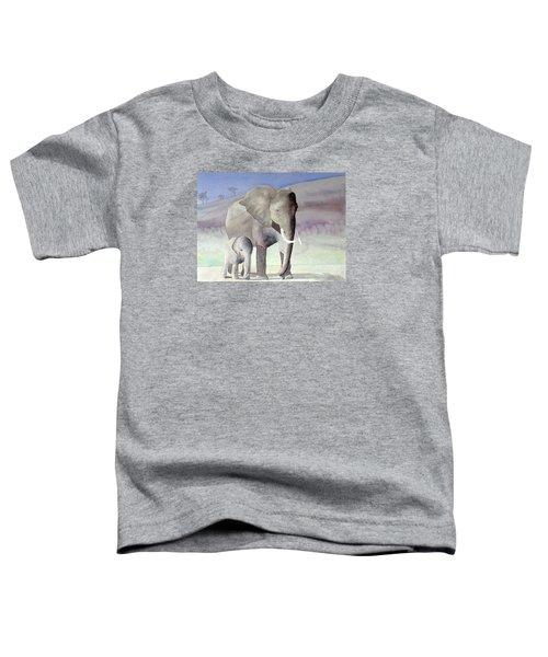 Elephant Family Toddler T-Shirt