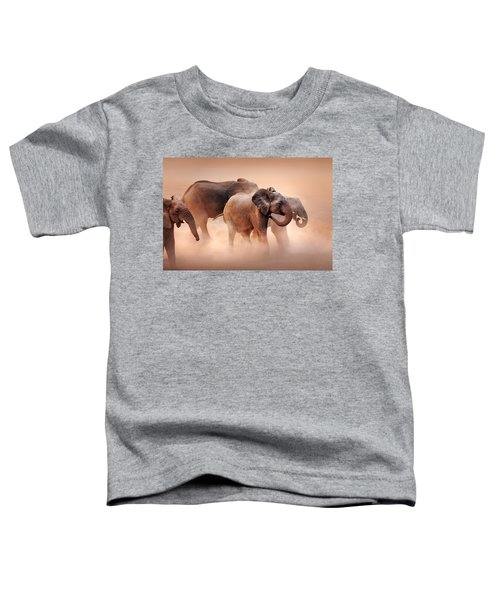Elephants In Dust Toddler T-Shirt